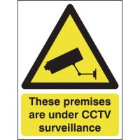 Rigid Plastic CCTV Surveillance Sign