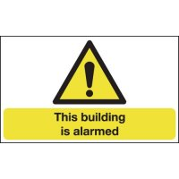 Plastic 'This Building Is Alarmed' Warning Sign