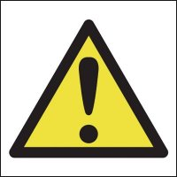 Versatile Universal Hazard Warning Symbol Sign