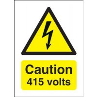 Caution 415 Volts Signs