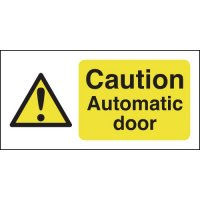 Caution Automatic Door Window Fix Signs