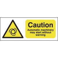Magnetic 'Automatic Machinery May Start Without Warning' Sign