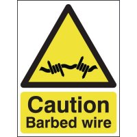 Essential Caution Barbed Wire Signs