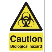 Compliant biological hazard safety signs