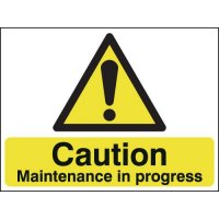 Caution Maintenance In... Double-Sided Hanging Sign