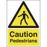 Highly Visible 'Caution Pedestrians' Signs