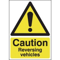 Durable 'Caution Reversing Vehicles' Hazard Sign