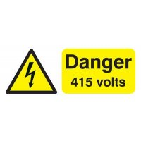 100 x 250 Danger 415 Volts