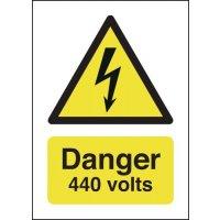 Vital danger 440 volts warning signs