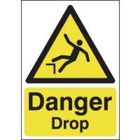 Danger Drop Signs