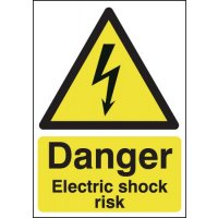 Danger Electric Shock Risk' Health & Safety Hazard Signs