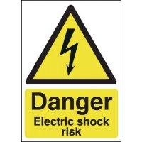 Danger Electric Shock Risk' Health & Safety Hazard Signs