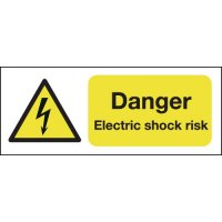 100 x 250 Danger Electric Shock Risk