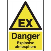 Universal 'danger explosive atmosphere' warning signs