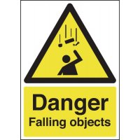 Plastic Or Vinyl Falling Objects Warning Signs