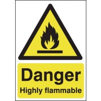 Danger Highly Flammable Signs