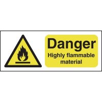 100 x 250 Danger Highly Flammable Material