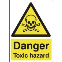 Easy-to-Spot 'Danger Toxic Hazard' Sign with Symbol