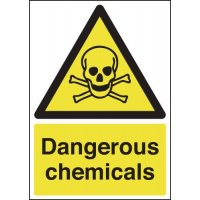 Clear and compliant dangerous chemical hazard signs