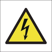 Health & Safety compliant, self-adhesive electricity warning sign
