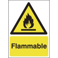 Self-Adhesive Flammable Warning Signs