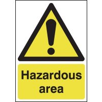 Hazardous Area Window Fix Signs