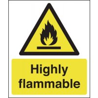 Self-adhesive Highly Flammable Signs