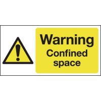 100 x 200 Warning Confined Space