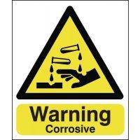 Warning Corrosive Signs