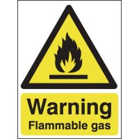 Lightweight easy to fix flammable gas warning signs