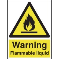 Lightweight flammable liquid warning signs