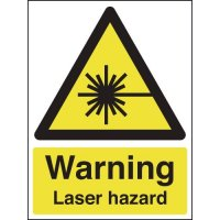Laser hazard warning health & safety signs