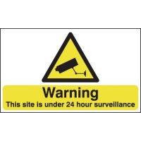 High Visibility 24 Hour Surveillance Warning Sign