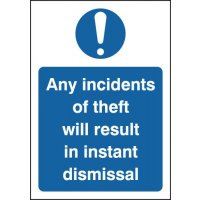 Anti-theft staff warning signs