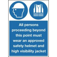 Persons Proceeding Beyond This Point Require Personal Protective Equipment Signs