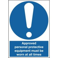 Approved Personal Protective Equipment... Signs