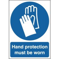Hand Protection Must Be Worn Window Fix Signs