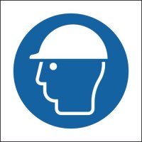 Plastic and Vinyl Signs With Helmet Symbol