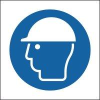 Plastic and Vinyl Signs With Helmet Symbol