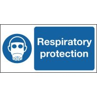 Respiratory Protection Area Sign in Rigid Plastic or Vinyl