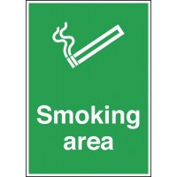 Aluminium, Plastic and Vinyl Smoking Area Signs