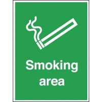 Aluminium Outdoor Smoking Area Sign