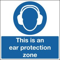 Self-adhesive Ear Protection Zone Sign