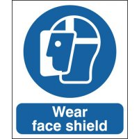 Rigid Plastic or Vinyl 'Wear Face Shield' Signs