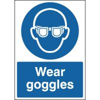 Durable Plastic 'Wear Goggles' Warning Signs