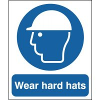 Wear Hard Hats Signs