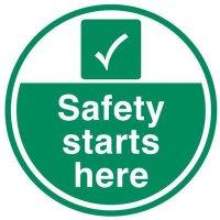 Safety starts here non-slip floor sign