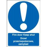 Fire Door Keep Shut Polish/English Signs
