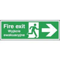 Fire Exit (Arrow Right) English/Polish Signs