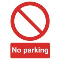 Weather-resilient 'no parking' signs